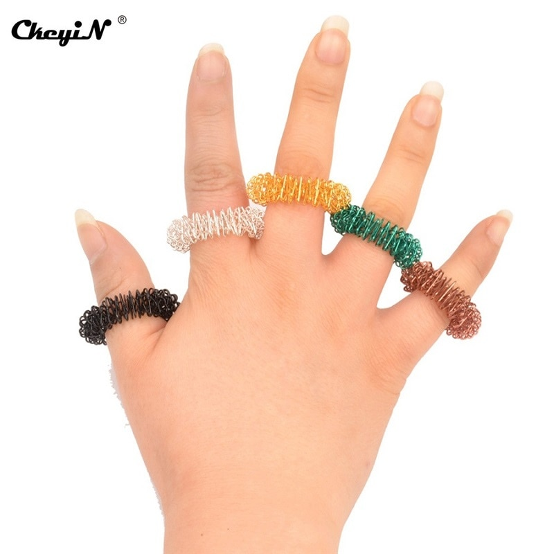 100Pcs Finger Massager Finger Massage Ring Acupuncture Acupressure Health Care Body Massager Health Care Set Home 1 - Ring Fidget Store