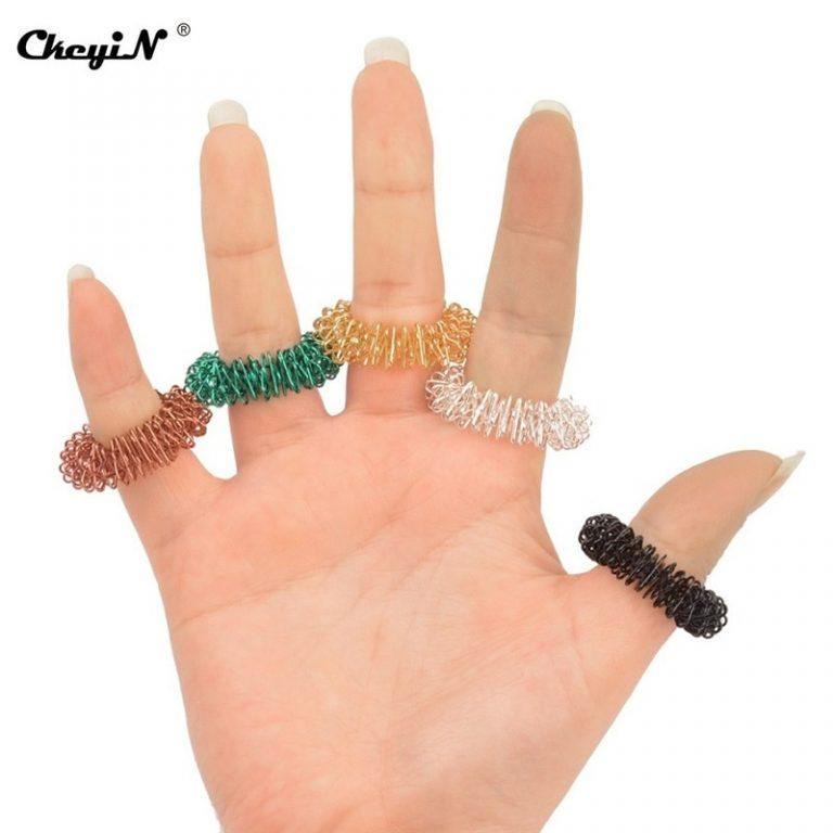 100Pcs Finger Massager Finger Massage Ring Acupuncture Acupressure Health Care Body Massager Health Care Set Home 2 - Ring Fidget Store