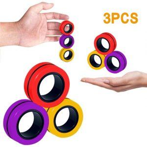 Funny Fidget Spinner Magnetic Bracelet Ring Unzip Toy Magic Ring Props Tools Anti Stress Figet Toys 1.jpg 640x640 1 - Ring Fidget Store