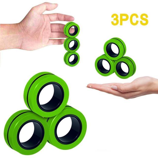 Funny Fidget Spinner Magnetic Bracelet Ring Unzip Toy Magic Ring Props Tools Anti Stress Figet Toys 10.jpg 640x640 10 - Ring Fidget Store