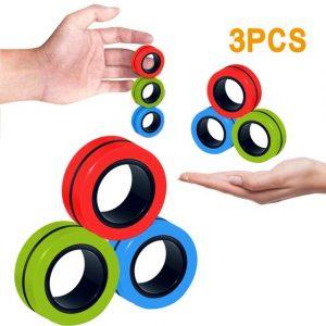 Funny Fidget Spinner Magnetic Bracelet Ring Unzip Toy Magic Ring Props Tools Anti Stress Figet Toys 2.jpg 640x640 2 - Ring Fidget Store