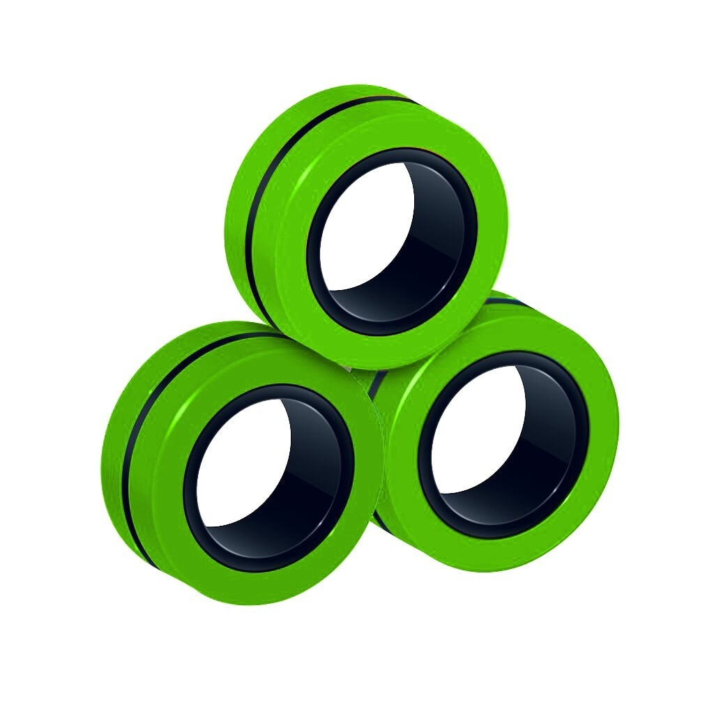Funny Fidget Spinner Magnetic Bracelet Ring Unzip Toy Magic Ring Props Tools Anti Stress Figet Toys 4 - Ring Fidget Store
