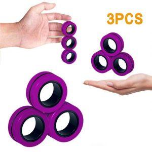 Funny Fidget Spinner Magnetic Bracelet Ring Unzip Toy Magic Ring Props Tools Anti Stress Figet Toys 4.jpg 640x640 4 - Ring Fidget Store