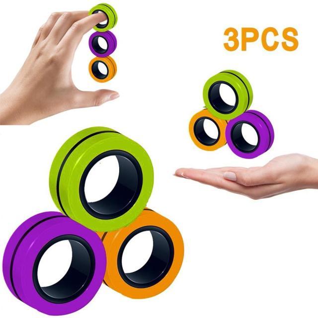 Funny Fidget Spinner Magnetic Bracelet Ring Unzip Toy Magic Ring Props Tools Anti Stress Figet Toys 7.jpg 640x640 7 - Ring Fidget Store