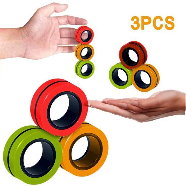Funny Fidget Spinner Magnetic Bracelet Ring Unzip Toy Magic Ring Props Tools Anti Stress Figet Toys 8.jpg 640x640 8 - Ring Fidget Store